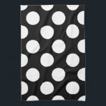 "Black and White Large Polka Dot Kitchen Towel<br><div class=""desc"">Add some contemporary style to your kitchen with these pretty,  large size polka dot print towels. Customize color of dot.</div>"