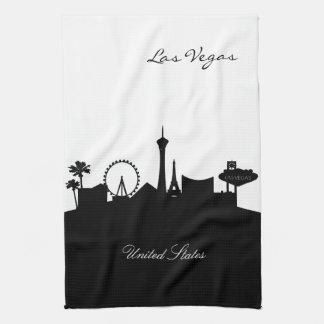 Black and White Las Vegas Skyline Hand Towel