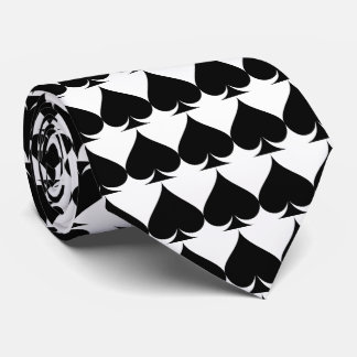Black and white Las Vegas wedding poker neck tie