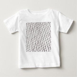 Black and white lattice fence design baby T-Shirt