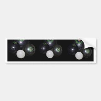 Black And White Lawn Bowls Pattern, Bumper Sticker