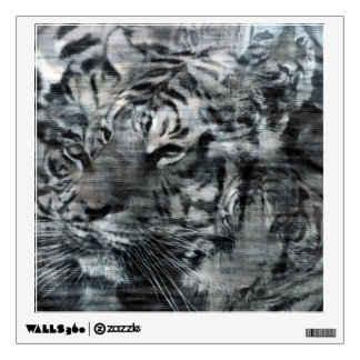 Black and White Layered Tigers Vintage Wall Decal