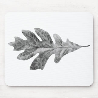 black and white leaf pad mouse pad