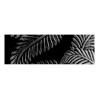 Black and White Leaves Bookmark Mini Business Card