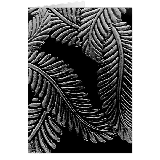 Black and White Leaves Card