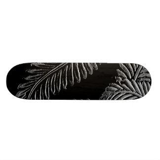Black and White Leaves Skateboard Deck