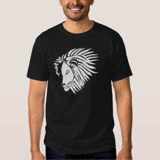 Black and White Leo Dark Shirt
