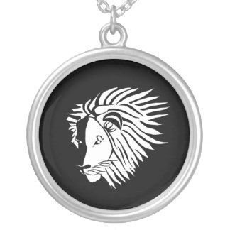 Black and White Leo Necklace