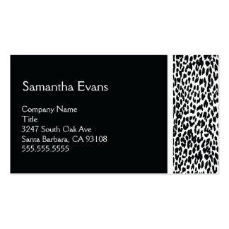 Black and White Leopard Business Card
