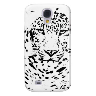 Black and White Leopard Samsung Galaxy S4 Covers