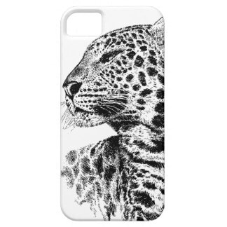 Black and White Leopard iPhone 5 Case