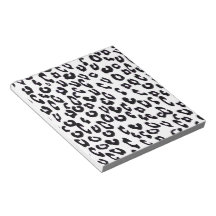 Black And White Leopard Print Note Pads