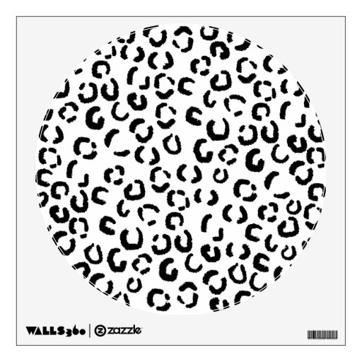 Black and White Leopard Print Pattern. Room Decal