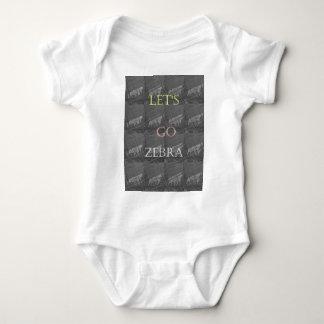 Black and White Lets Go Zebra  Hakuna Matata motif Baby Bodysuit