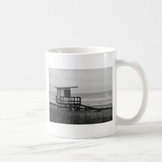 Black and White Lifeguard Stand Coffee Mug