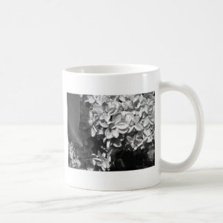 Black and White Lilac Flowers Coffee Mug