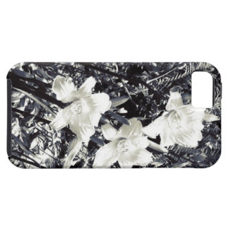 Black and White Lilly Flowers iPhone SE/5/5s Case