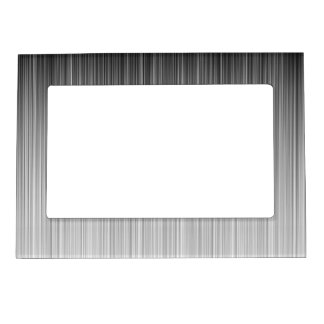 Black and White Line Design Magnetic Frame