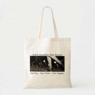 Black and White Line Feet Tote