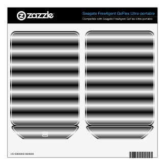 black and white Line pattern FreeAgent GoFlex Skin