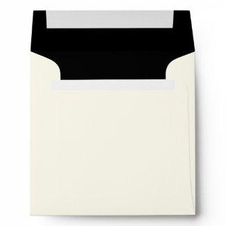 Black and White Linen Envelopes