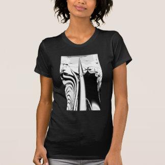 Black and White Lines and Swirls. T-shirt