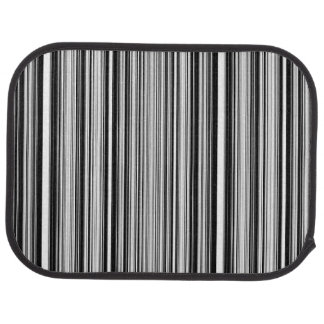 Black And White Lines Car Floor Mat