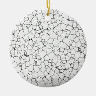 Black And White Lines Ceramic Ornament