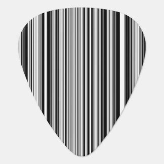 Black And White Lines Guitar Pick