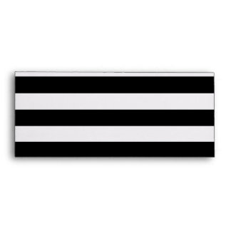 Black and White Lines Stripes Pattern Envelope