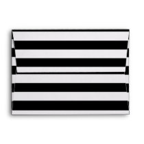 Black and White Lines Stripes Pattern Envelope