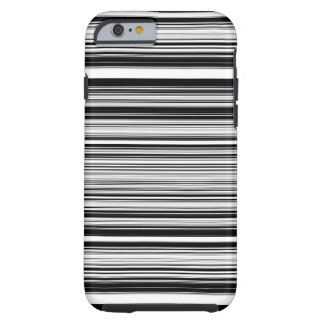 Black And White Lines Tough iPhone 6 Case