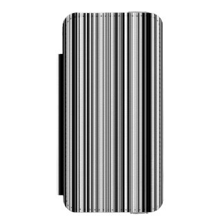 Black And White Lines Wallet Case For iPhone SE/5/5s