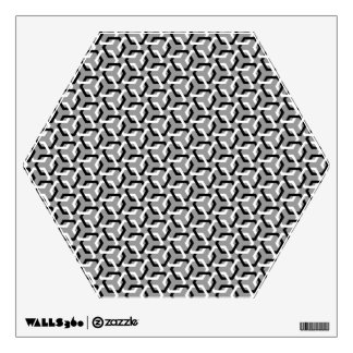 Black and White Linked Hexes Wall Decal