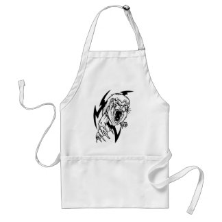 Black and White Lion Adult Apron