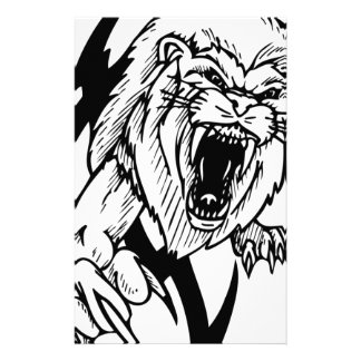 Black and White Lion Stationery Design