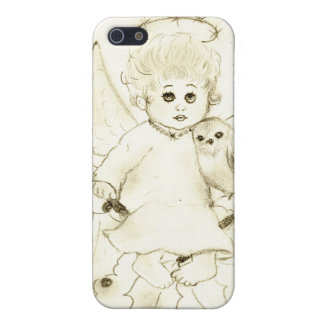 Black and White Little Angel Cover For iPhone SE/5/5s