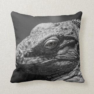 Black and White Lizard Throw Pillows