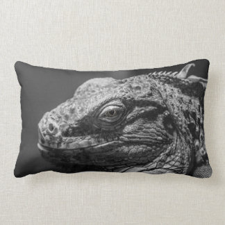 Black and White Lizard Pillow