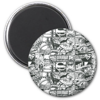 Black and White Logos 2 Inch Round Magnet