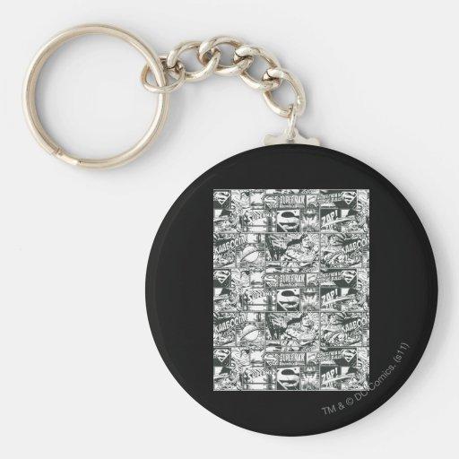 Black and White Logos Key Chains