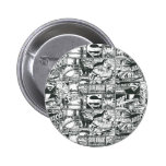 Black and White Logos Pin