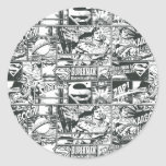 Black and White Logos Stickers