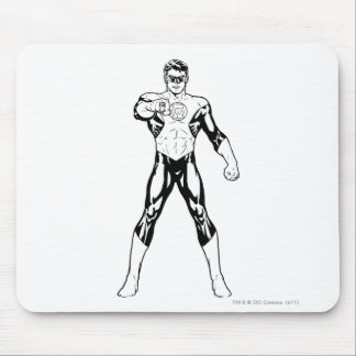 Black and White Looking forward Mouse Pad