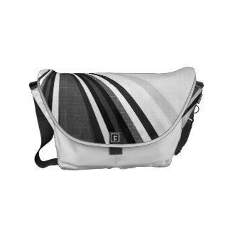 Black and White Loops Messenger Bag