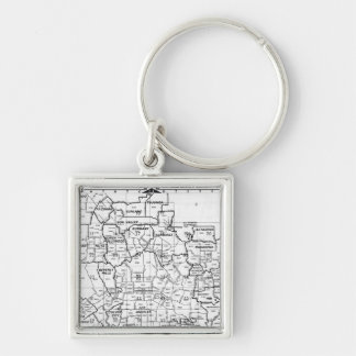 Black and White Los Angeles County Street Atlas Keychain
