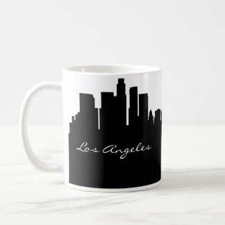 Black and White Los Angeles Skyline Coffee Mug