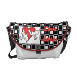Black and white love doves courier bags