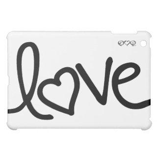 Black and White love handwriting iPad Mini Case