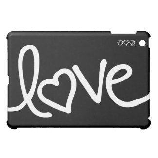 Black and White love handwriting iPad Mini Cover